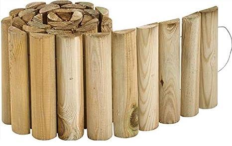 Bordure en bois à derouler First: Amazon.fr: Jardin