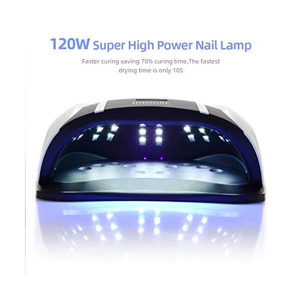 JODSONE 120W UV LED Nail Lamp for Two Hand, Led Nail Light for Gel Nails with 54 Pcs Light Bead, Gel Nail Lamp Quick…