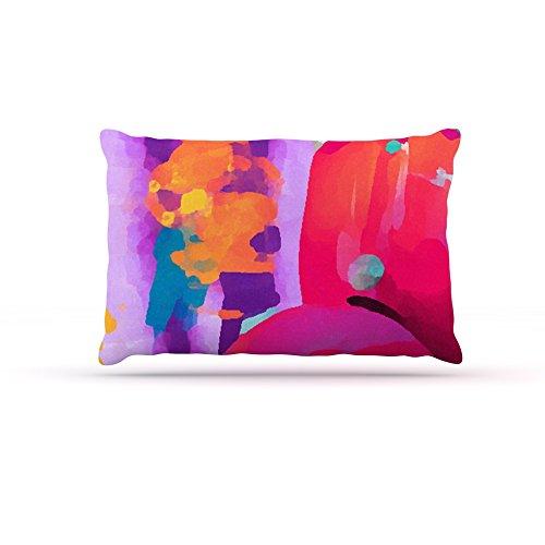 Kess InHouse Oriana Cordero Vespa II  Fleece Dog Bed, 50 by 60 , Pink Purple