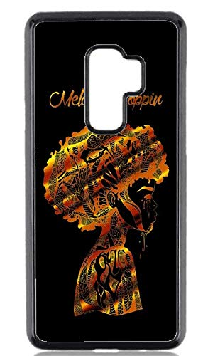 Afro Beauty Melanin in Gold Hard Plastic Phone Cell Case Samsung Galaxy S9