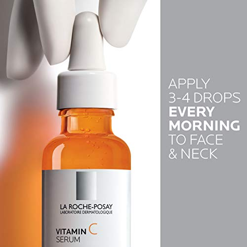 41uuCwKGj6L - La Roche-Posay Pure Vitamin C Face Serum with Salicylic Acid. Anti Aging Face Serum for Wrinkles & Uneven Skin Texture to Visibly Brighten & Smooth. Suitable for Sensitive Skin, 1.0 Fl. Oz.