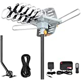 2020 Version HDTV Antenna Amplified Digital Outdoor Antenna -150 Miles Range-360 Degree Rotation Wireless Remote-Snap- Wireless Remote Control - UHF/VHF 4K 1080P Channels- On Installation Support 2 TV
