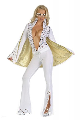 Nom de Plume, Inc Women's Sexy Elvis Jumpsuit Costume Small -