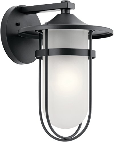 Kichler One Light Outdoor Wall Mount 49826BK