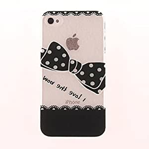 (CASEI)Hi-Q Bowknot Graphics PC Hard Case for iPhone 4/4S
