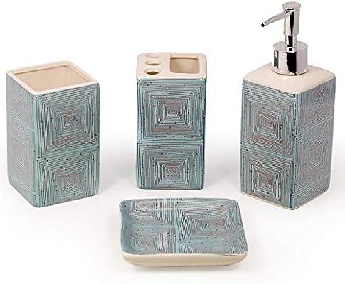 Set Da Bagno Moderno : Set accessori da bagno pezzi bagno moderno set accessori bagno