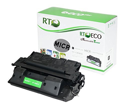 Renewable Toner C8061X Compatible MICR Toner Cartridge for HP 61X for Check Printing with HP LaserJet 4100 4100mfp 4100dtn 4100n 4100tn Printer Series