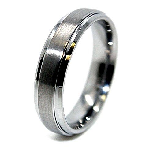 Unisex 6mm Tungsten Carbide Raised Satin Center Wedding Band Size 14.5 (14 1/2) Review