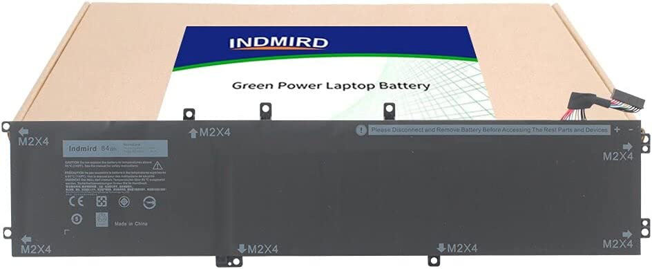 INDMIRD OEM 4GVGH Laptop Battery for DELL XPS 15 9550 P56F P56F001 Dell Precision 5510 Series Notebook Replacement 1P6KD 01P6KD T453X 0T453 84W/7260mAh 11.4V 6 Cell