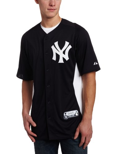 MLB New York Yankees Cool Base Navy/White Authentic Batting Practice Jersey, Navy/White, XX-Large