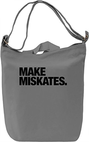 Make miskates Borsa Giornaliera Canvas Canvas Day Bag| 100% Premium Cotton Canvas| DTG Printing|