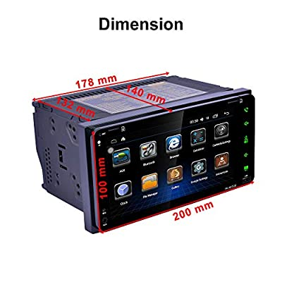 Veepola 7 2Din Stereo Car Android MP5 Player Bluetooth Touch Radio AM/FM/RDS/GPS/USB/SD