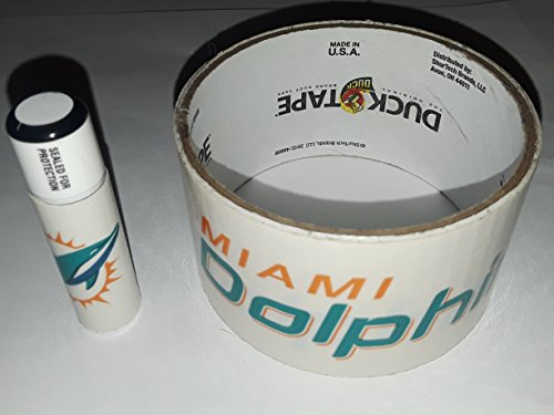 5 Miami Dolphins NFL Chap Stick Lip Balm five pack pieces BULK by In a Sticky Situation