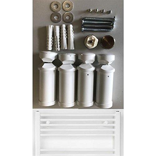 Support pour Radiateur Sèche-Serviettes en blanc, Adapté pour tout droit et courbé radiateur Adapté pour tout droit et courbé radiateur anapont