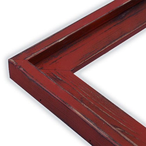 The Rusty Roof Farm House Colonial Red Picture Frame-Solid Wood, 8x10