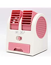 XYSoeMY Mini acondicionador de Aire, Enfriador de Aire, Enfriador de Aire portátil portátil USB, Escritorio, Oficina, enfriamiento doméstico, Ventilador sin aspas, Rosa, 12x11x15 cm (5x4x6 Pulgadas)