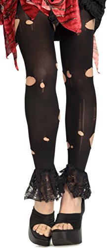 [Rubie's Costume Co. Women's Little Dead Riding Hood Ripped Tights, As Shown, One Size] (Ripped Leggings Costume)