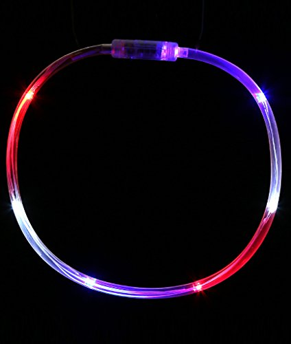 Fun Central O556, 1 Pc, 27 Inches, Multicolor LED Light Chaser Necklace, LED Light Up Necklace, LED Light Necklace]()