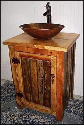 Adonis554Dan Rustic Log Bathroom Vanity Pump Faucet 25 Bathroom Vanity Copper Sink Rustic Bathroom Vanity Bathroom Vanities