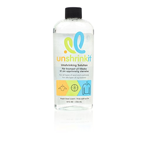 Unshrinkit U2-01 Unshrinking Solution for Cashmere, Wool and Wool Blend Clothing