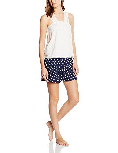 Women'Secret FR Cute PJ, Pijama para Mujer White