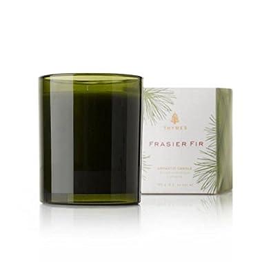 Thymes Frasier Fir Green Glass Candle - 6.5 oz