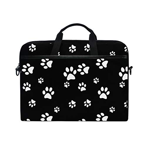 (TropicalLife Laptop Bag Cute Animal Dog Paw Print Lightweight Briefcase Shoulder Messenger Bag Laptop Case Sleeve for 11.6-15 inch MacBook Pro, MacBook Air Laptop and Tablet)
