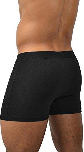 4 x Herren Unterwäsche Boxershorts original normani® Exclusive Farbe Basic Style/Black Größe L
