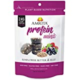 Amrita Nutrition Protein Mini Bars, 24gr of Protein per Pack, 3 Pouch Pack (Sunflower butter and Jelly)