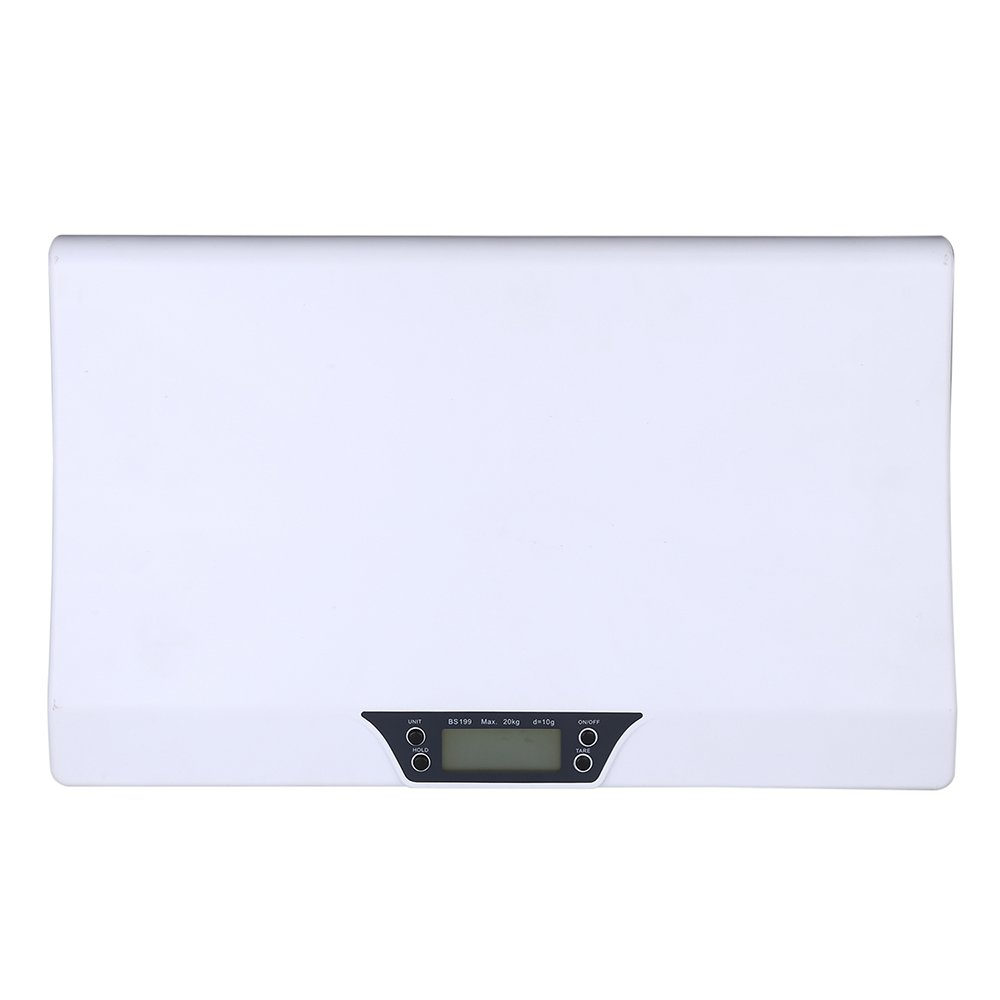 Nrpfell Newborn Baby Pets Infant Scale Abs LCD Display Weight Toddler Grow Electronic Meter Digital Professional Up to 20Kg