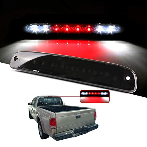 cciyu LED 3rd Brake Lights Cargo Lamp Assembly Automotive Tail Lights Smoke Lens Replacement fit for 1997-2007 Dodge Dakota Replace 5056203AH 55056203AC 55056203AB 55056203