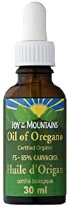 Oregano Oil CERTIFIED ORGANIC- Joy of the Mountain - 75% Carvacrol (30mL) Brand: Joy of the Mountain