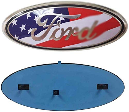 F150 Front Grille Tailgate Emblem Compatible For Ford, 9 inch American Flag Oval Decal Badge Nameplate for FORD 2004-2014 F250 F350, 11-14 Edge, 11-16 Explorer, 06-11 Ranger (US Flag Emblem)
