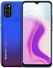 Android 11 Smartphone zonder abonnement, Blackview A70, 6,5 inch HD+ scherm, 8,3 mm slank en licht, 5380 mAh-accu, Octa Core 3 GB + 32 GB, 13 MP + 5 MP, Dual SIM-mobiele telefoon 4G, gezichtsontgrendeling & vingerafdruk, blauw