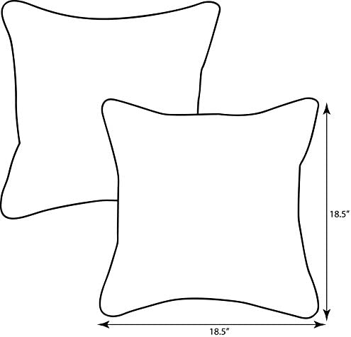 Pillow Perfect Outdoor Indoor Menagerie Cayenne Throw Pillows, 18.5 x 18.5 , Grey, 2 Pack