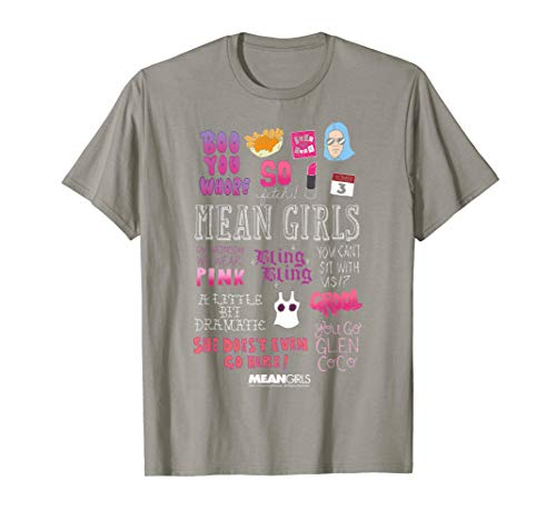 (Mean Girls Mini Icons Sketch Graphic T-Shirt)