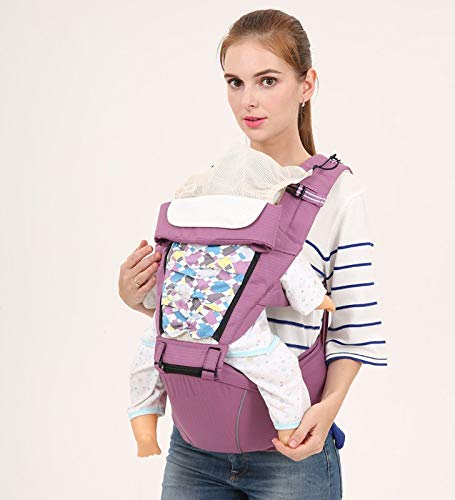 Amazon.com : HOKUGA: Organic Cotton Ergonomic Baby Backpack Baby Sling Hipseat, Baby Holder for 0~36 Months Kids, Mochila portabebe : Baby
