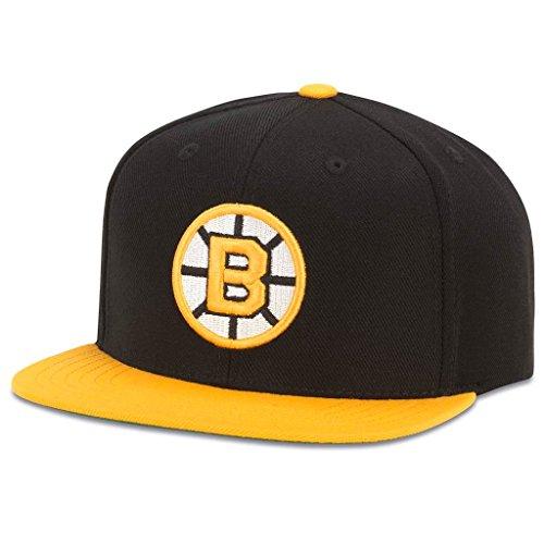 American Needle 400 Series NHL Team Hat, Boston Bruins, Black/Gold (400A1V-BBR)