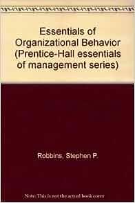 management the essentials stephen robbins pdf
