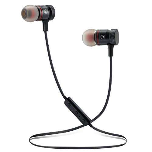 Bluetooth Headsets Wireless Headphones Sport Earbuds Magnetic Attraction Stereo Earphones Magnetic Design, In-Ear Earphones, Superior Sound for Exercise