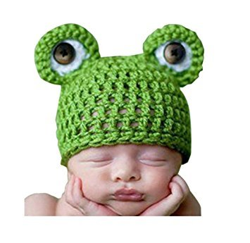 [Eyourhappy Baby Photography Prop Knitted Crochet Costume Animal Frog Prince Hat Caps] (Prince Frog Costumes)