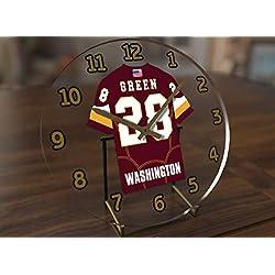 Darrell Green 28 Washington Redskins Desktop Clock - National Football League Legends Edition !!