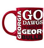 Boelter Brands NCAA 14 oz Georgia Bulldogs Scuplted Slogan Mug