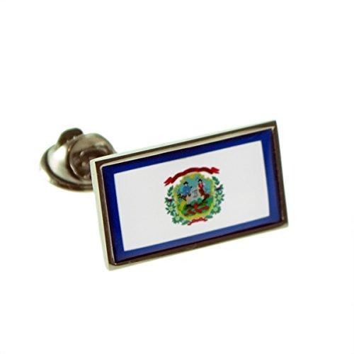 Virginia Flag Lapel Pin - USA American WEST VIRGINIA State Flag Lapel Pin Badge