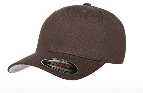 Premium Twill Shirt - Premium Original Blank Flexfit V-Flexfit Cotton Twill Fitted Hat Cap Flex Fit 5001 Large/Xlarge - Brown