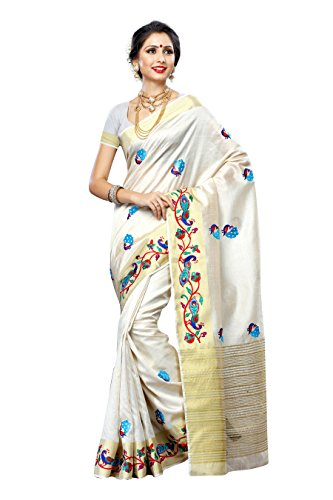 silk Saree with Hand Embroidery. (Hand Embroidery Sarees)