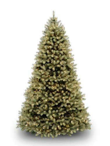 "National Tree 7.5 Foot ""Feel Real"" Downswept Douglas Fir Tree with 750 Dual Color LED Lights and On/Off Switch, Hinged (PEDD1-312LD-75X) from National Tree Company"