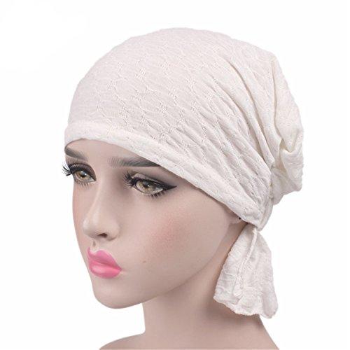 Womens Solid Color Ethnic Cloth Print Turban Headwear Chemo Cancer Head Scarf Hat Cap (Color#2)