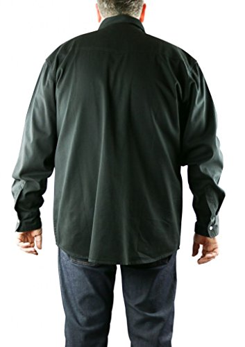 Duke KS1024 Jeans Western-Hemd schwarz in Übergrößen: Farbe: schwarz   Kragenweite: 53/54-5XL