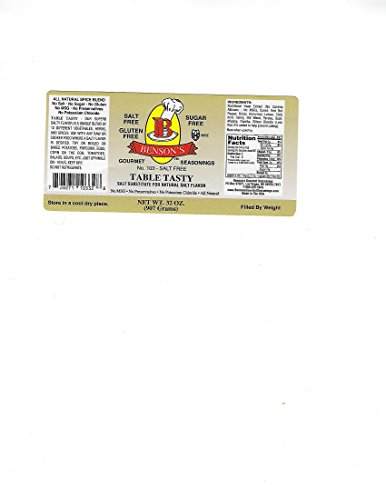 2 pound Salt Substitute - Table Tasty No Potassium Chloride Substitute For Salt - No Bitter Aftertaste - Good Flavor - No Sodium Salt Alternative - 2 Lb Resealable Bag by Benson's Gourmet Seasonings (Image #3)